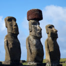 Which direction are Easter Island moai facing?