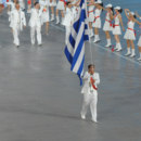 What was the position of Greece at the parade of nations during the opening ceremony of Olympic Games in Athens?