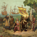 Where did Columbus land in the New World for the first time?