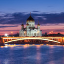 Which river flows through Moscow?