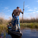 Okavango river is famous for its biologically rich delta. What is the river's outlet?