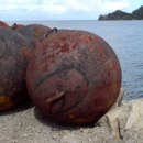 This is an iron buoy. Where were its atoms formed?