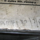 What kind of script is this 'graffiti', carved in Hagia Sophia in Constantinople around 9th century?