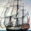 The Santísima Trinidad (pictured) bore the most guns of any ship of the line outfitted in the Age of Sail. How many guns were there?