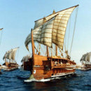 What was the typical attack method of Roman Navy?