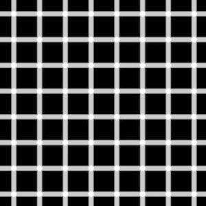 How many dots at the intersections are black?
