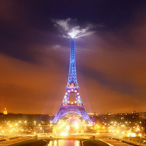 When is the Eiffel Tower the highest?