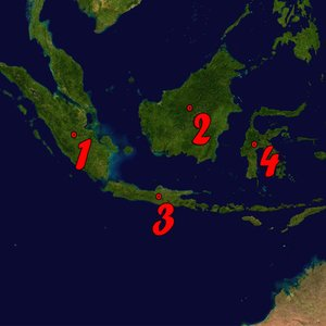 Which Indonesian island is the most populous?