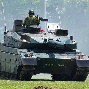 Which company produces the most advanced Japanese tank?