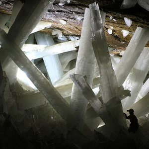 Where is the famous Cave of the Crystals?