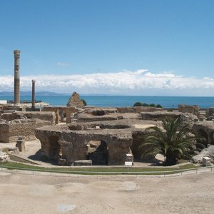 In what country are the ruins of Carthage?