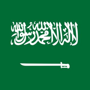 What is written on the Saudi Arabia flag?