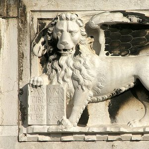Which Evangelist was symbolised in art as a lion?