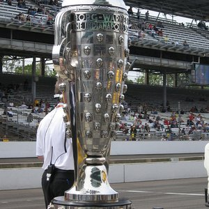 Winner of which motorsport competition is awarded the Borg-Warner Trophy?
