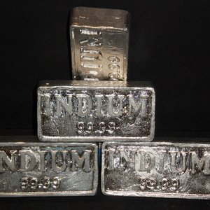 What gave the name to the indium chemical element?