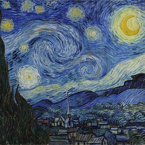Where was van Gogh when he painted The Starry Night?