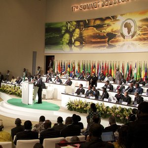 What is the only African country which is not a member of the African Union?