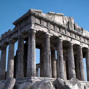 What was inside the Athenian Parthenon?