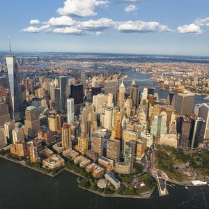 Which river flows through New York City?