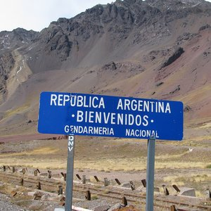 Which country borders Argentina?