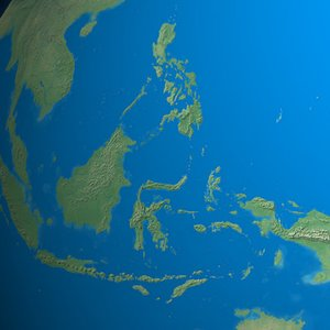 What sea lies between Philippines and Indonesia?
