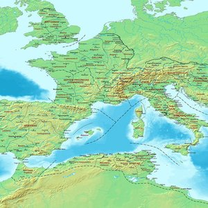 What was the capital city of the Western Roman Empire after the AD 395 final division?