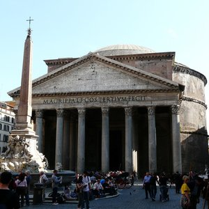 What material was the dome of Rome Pantheon made from?
