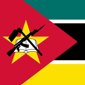 What gun is depicted on the flag of Mozambique?
