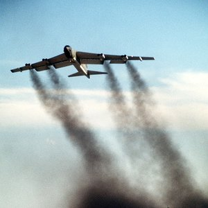 What is this B-52 bomber doing?