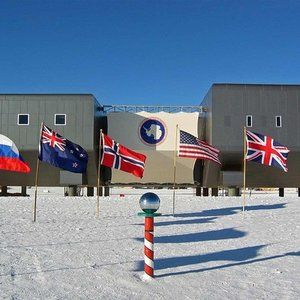 This is Amundsen–Scott South Pole Station. Why is it elevated?