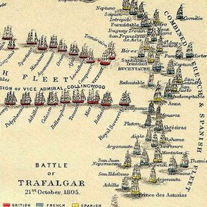 What was the the largest warship taking part in the Battle of Trafalgar?