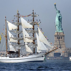 If you sail due east from New York City, which European country do you land in?
