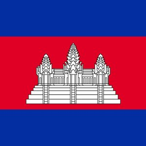 What building is on the flag of Cambodia?