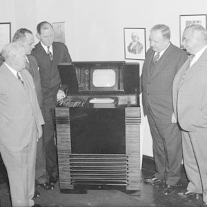 Where was the world's first regular TV service?