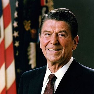 What was the famous joke Ronald Reagan said as a microphone test in 1984?