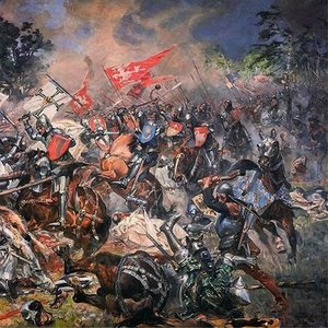 How many Teutonic Knights died in the battle of Grunwald, one of the largest  battles in Medieval Europe ?