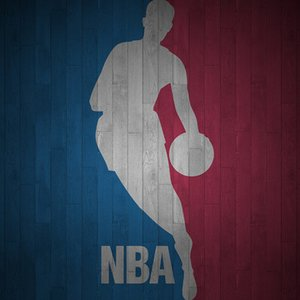 Which player is captured on the NBA's logo?