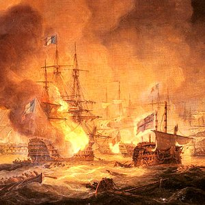 In naval warfare of the Age of Sail, what was the most desired way to fire at the enemy?
