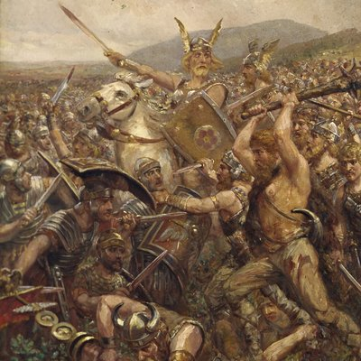analysis of the battle of teutoburg forest between publius quintilius varus and arminius during 9 ye ('quintilius varus recovered in 41 ce by publius gabinius from the chauci during the reign battle of the teutoburg forest arminius.